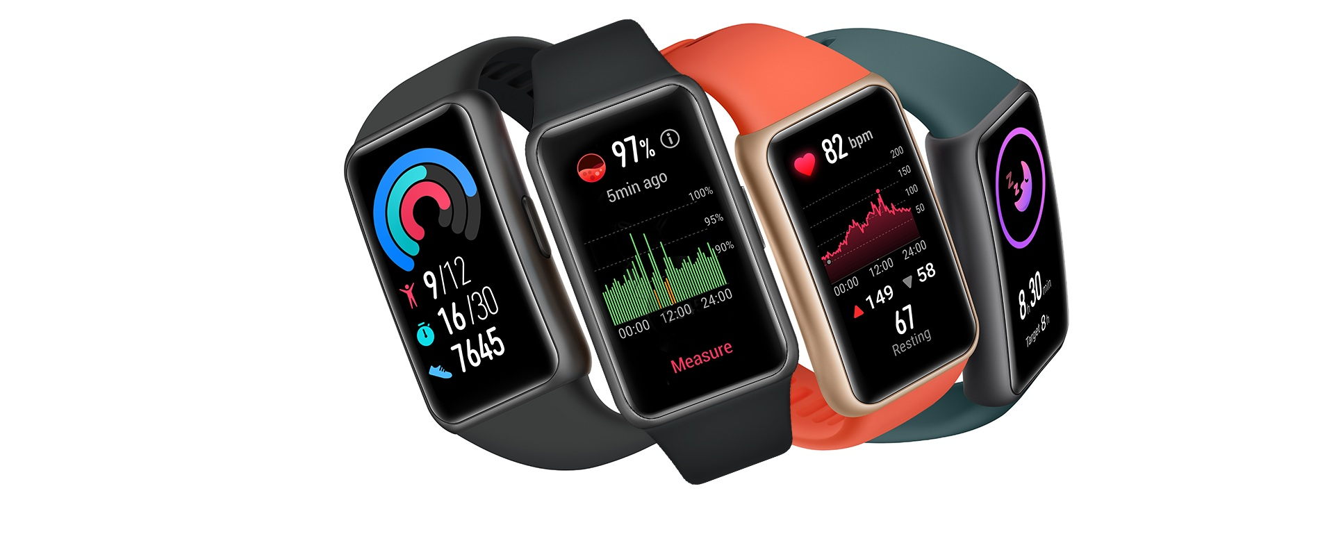 HUAWEI Band 6 All-Day SpO2 Monitoring, FillView Display, 2-Week Battery Life